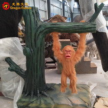 Wholesale alive animatronic life size monkey plays on a swing sale