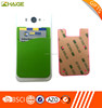 Hot selling colorful sticker silicone back card holder for mobile phone