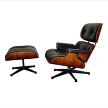 Modern classic leisure reclining leather Comfy plywood Charles Lounge Chair