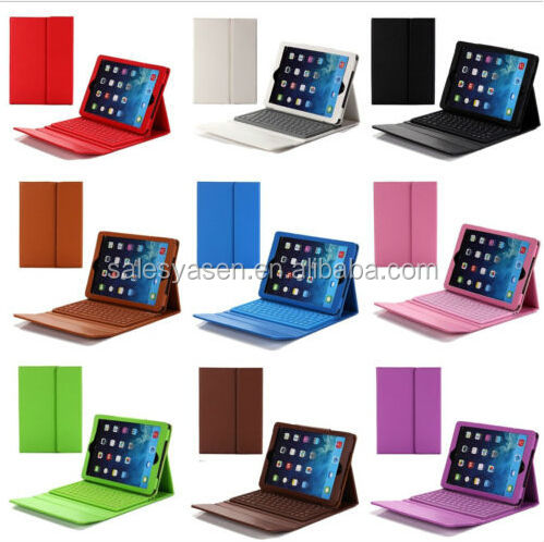 3.0 compliant Wireless Silicone Bluetooth Keyboard PU Leather Stand tablet keyboard case for iPad 2/3/4