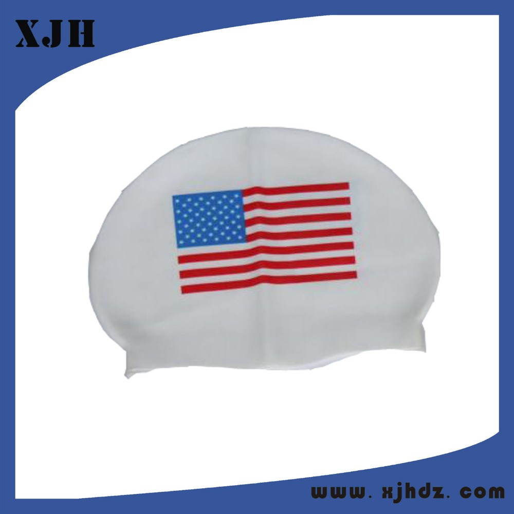 Silicone Flag Swim Cap With Custom Logo