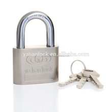China Suppliers!!!Big Round Corner Vane Key Cheap Safety Nickle plated iron padlock