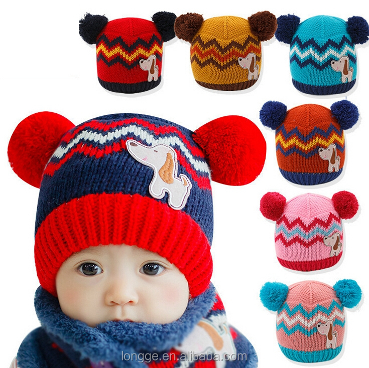 Autumn Winter New Baby Hat Kids Baby Beanie Bebes Crochet Beanie Toddler Cap For Girls