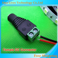 DC Jack Female connectors,connection for LED strip and DC transformer power adapter