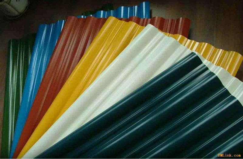 Colorful roof construction sheet metal building materials