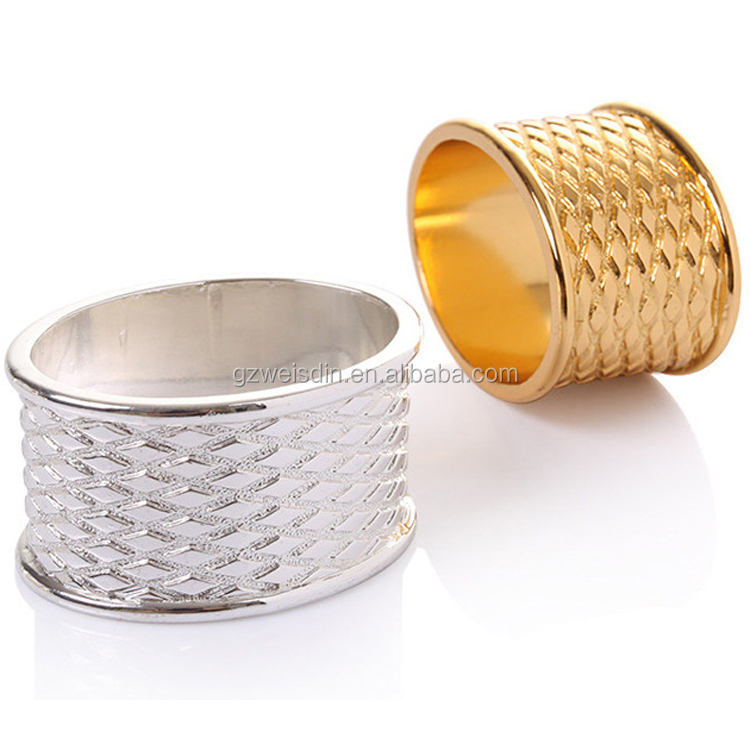 Wholesale fancy wedding metal napkin rings holder