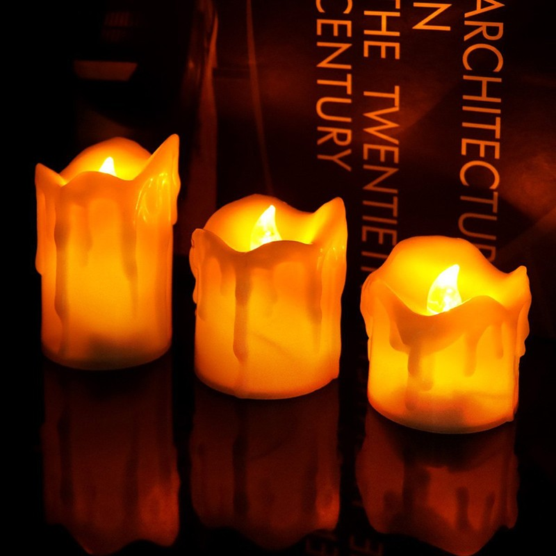 Best sales flickering flameless mini led tealight candles