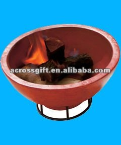 traditional terracotta firepit