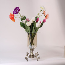Factory Popular long lasting cheap tall glass cylinder vases with different size