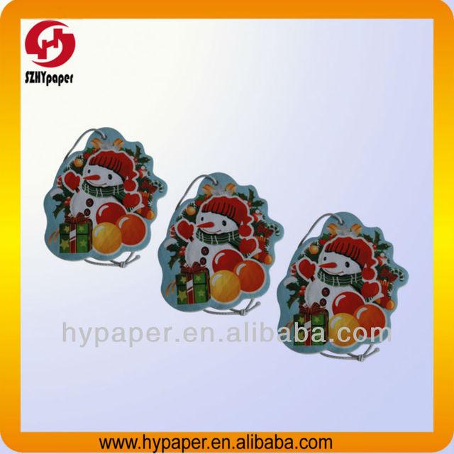 2013 Novelty promotional paper car air freshener paper fragance
