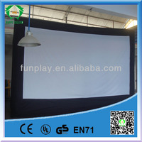 HI 5.8m*3.6m hight quality gaint inflatable movie and advertising screen for sale