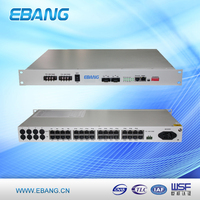Fiber optical PCM Multiplexer equipment used for communication with 4E1,4ETH,4RS232