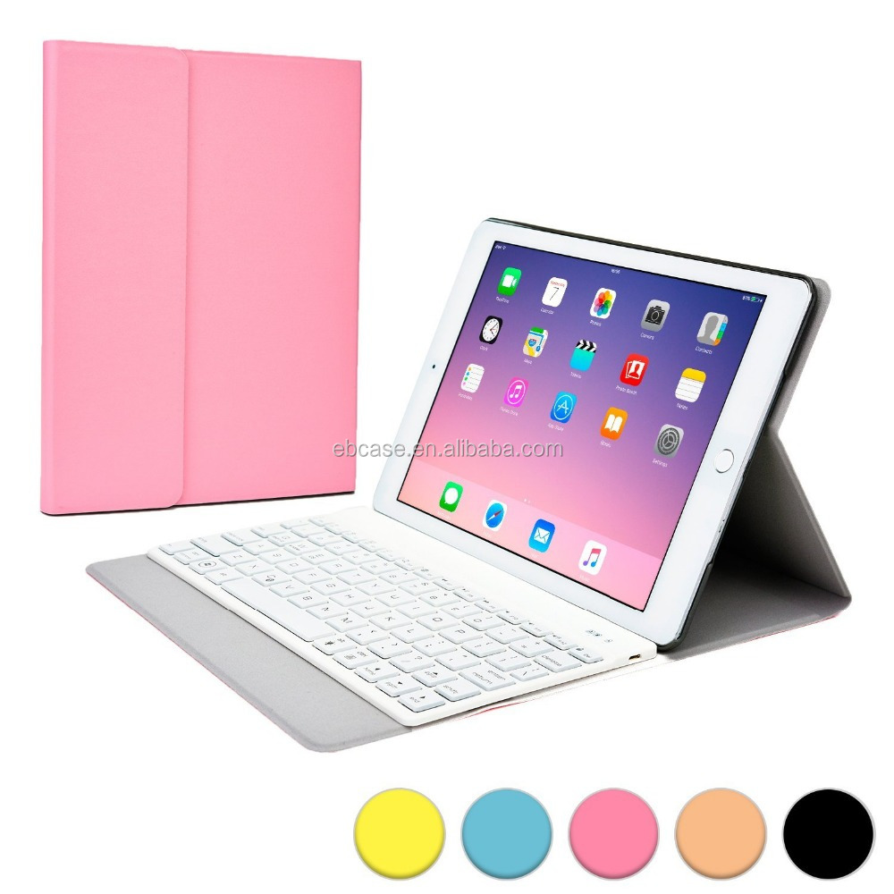 Bluetooth Keyboard kickstand flip PU leather case cover for 2017 iPad Pro mini 5