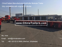ChinaTrailers Manufactures Heavy Haulage Transporter 7 Axle Lines Lowbed Trailer 300 Ton Goldhofer THPSL Modular Trailer
