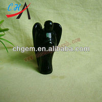 Black Onyx angel statue for wholesale