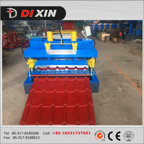 760 Step Roof Panel Metal Steel Colored Step Glazed Roof Tile Making Machine
