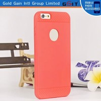 Candy color tpu case for iPhone 6 armor case with logo hole, soft tpu case for iPhone 6 with logo hole