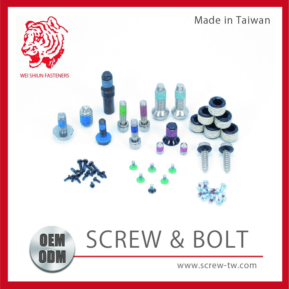 Made In Taiwan Factory Supplier All Kinds of Water Proof Screws Fasteners