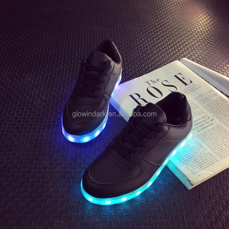 christmas Unisex Rechargeable led flashing shoe light light up dance shoes for party,led unisex flashing shoes