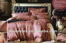100% cotton Satin Embroidered Bedspread Set