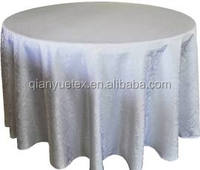 fancy white marquis jacquard damask polyester table cover