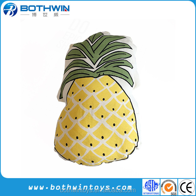 Funny Design Pineapple shaped home decro hand pillow