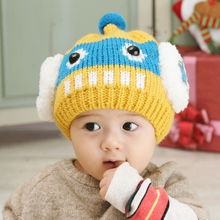 Hand Knitted Baby Hat Wool Knit Baby Beanie Hat