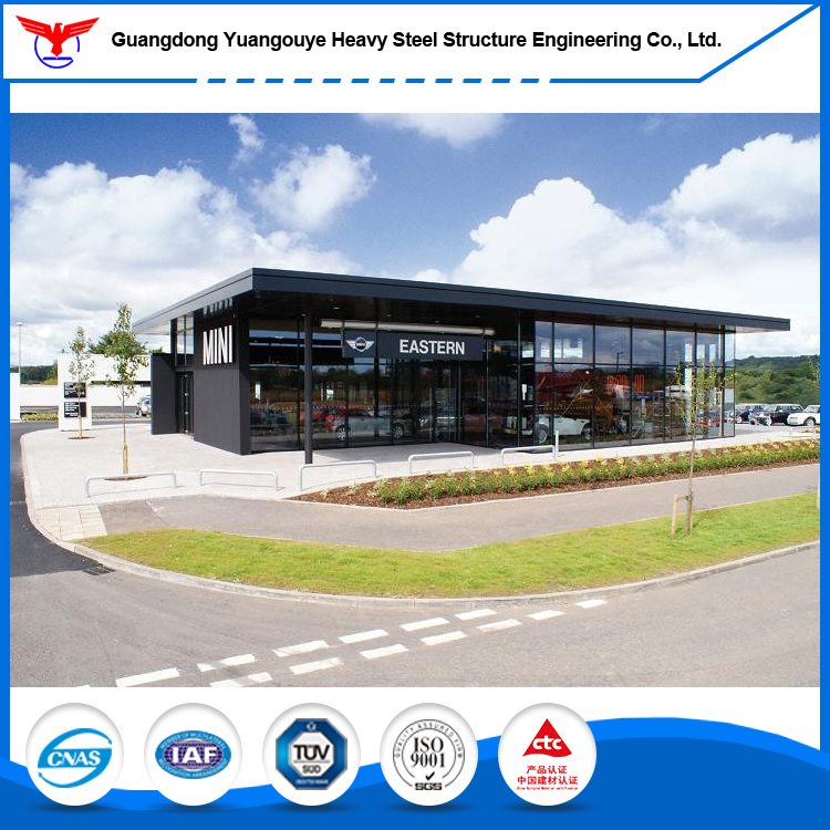 Pre engineered light steel structure Benz 4s car shop service center with construction design