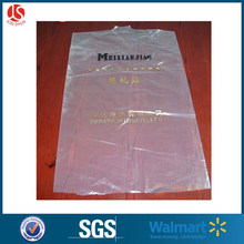 Laundry clothespress suits hanging plastic cover with perforations