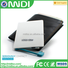 Credit Card Power Bank Polymer Lithium-ion Battery 4000mAh for mobile phones