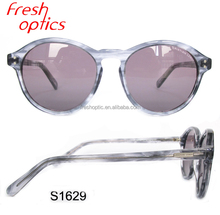 Acetate high quality custom cat eyes polarized demi sunglasses women