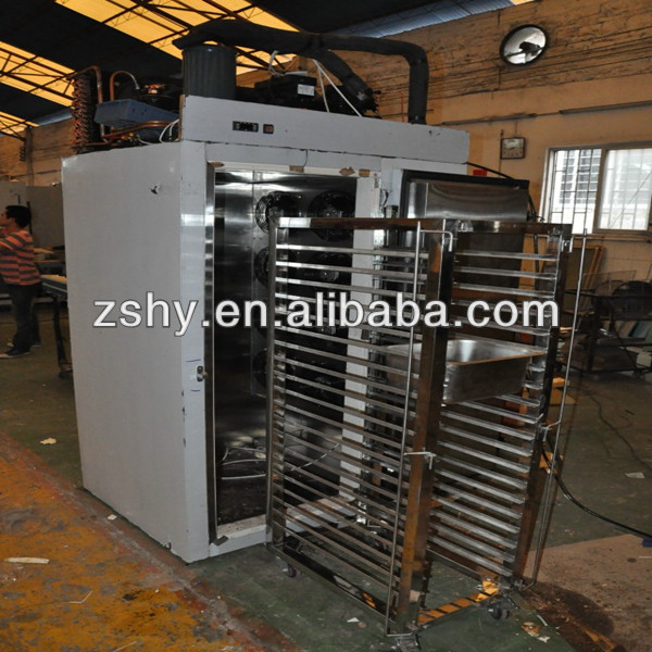 stainless steel commercial blast freezer to quick freeze french bread and pastry