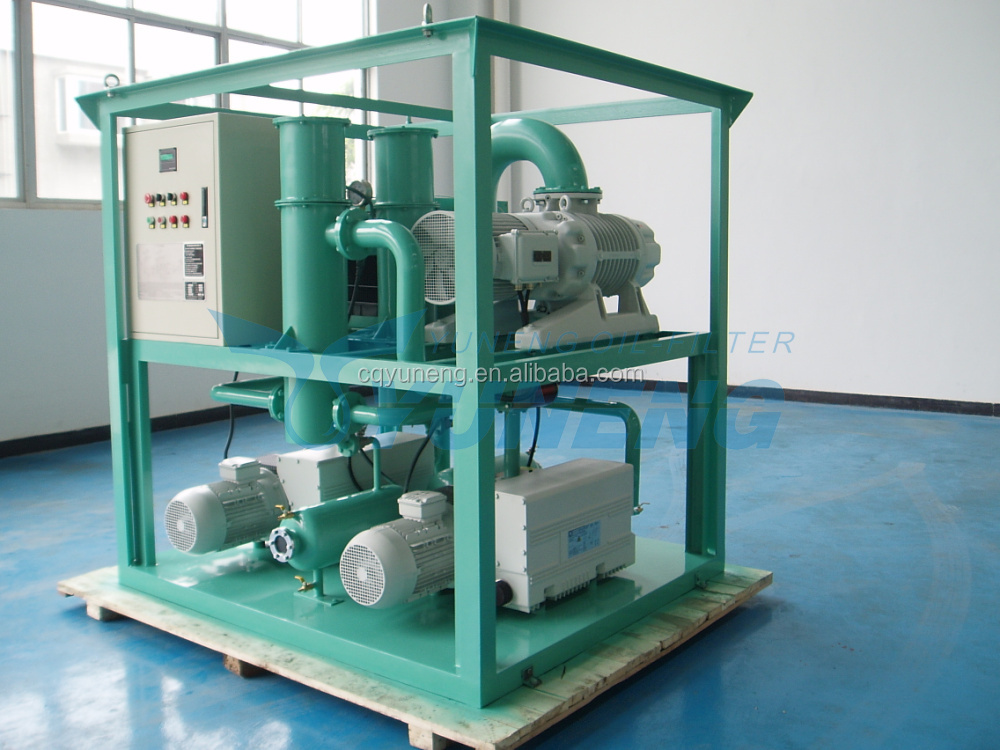 Small Double Stage Vacuum Pump System Vacuum Forming Machine for Transformer Maintenance