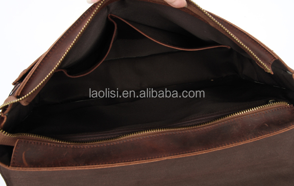 Guangzhou wholesale fashion handmade business genuine leather briefcase for men