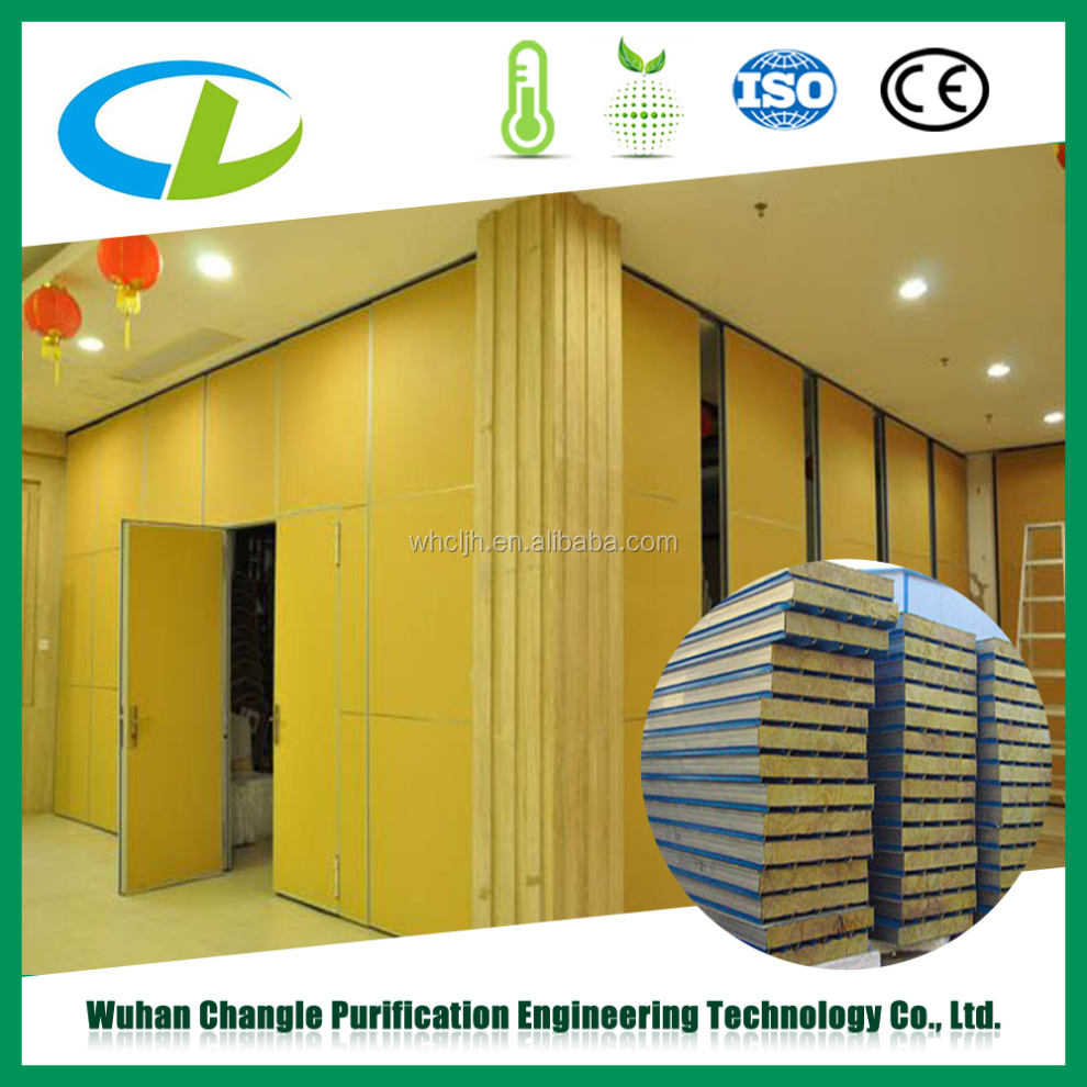 Corrugated mineral rockwool insulated sandwich wall panel