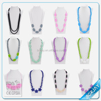 Newest Baby Silicon Teething Necklace Child beads necklaces and bracelets