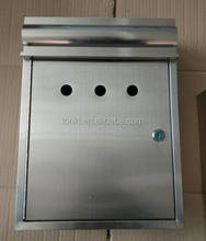 Stainless steel Mail Box, hot selling letter box, lockable wall mounted mail box