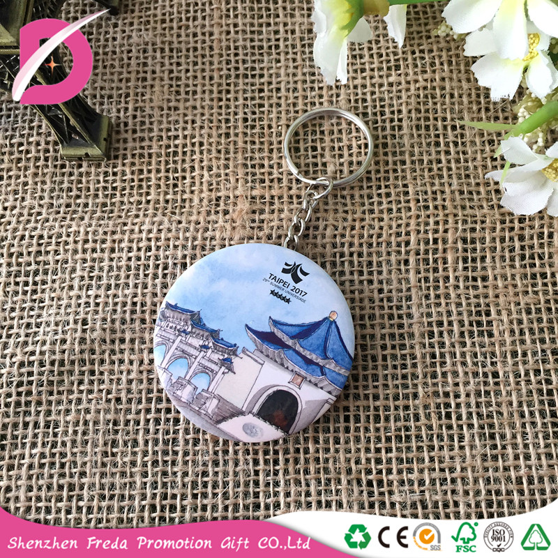 Factory cheap price tin button badge bottle opener with key ring accessories