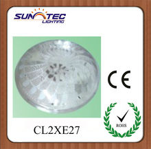 CL*2E27 plastic led ceiling lighting cover with stock lamp