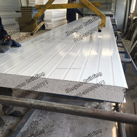 Good Mechanical Resistance And Rigidity Fireproof Insulation Rockwool Sandwich Panel Factory