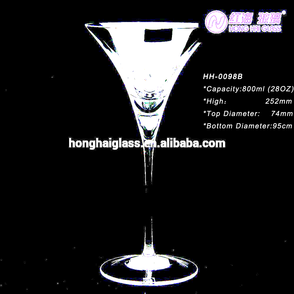 8oz wholesale drinking glass marble wine glass rio cocktail glass Customized Clear crystal long stem red wine glass98