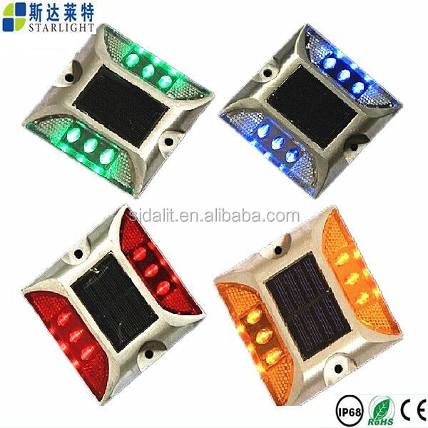 Motorway ip68 waterproof reflective led solar road stud
