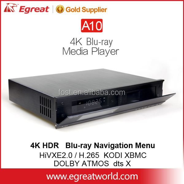 Newest 4K Egreat A10 blu-ray hd media player center 2160p 10Bit Deep Color Specially optimized Vidon XBMC app support