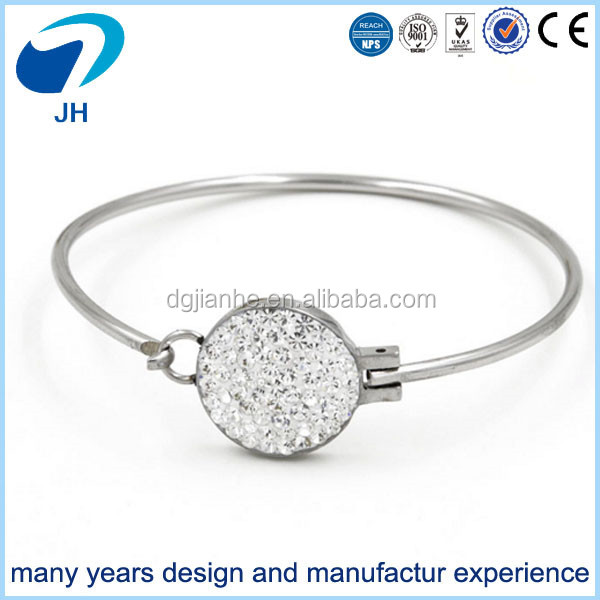 Wholesale fashion crystal white circle bracelet for women