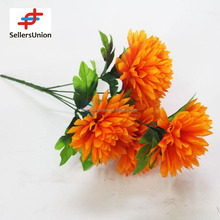 No.1 yiwu exporting commisssion orange cheap artificial hydrangea flower agent need wanted