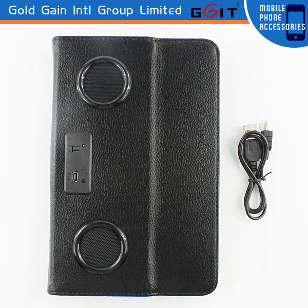 PU Case With Speaker For iPad Mini Flip Cover, Flip Cover Case For iPad Mini With Speaker