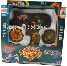 Beyblade Black Hybrid Wheel Fight Attack Double Launcher Beyblade
