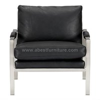 modern classic chair Milo Lounge Chair leather chair