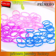 PRIMERO 1 KG/6 usd HOT SALE Factory-Direct-Sale High-Quality Solid-Color loom kit wholesale Rubber bands with opp package