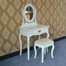 Brand New one drawer french provincial drawers dressing table with oval mirror